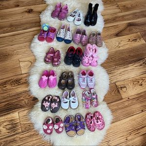 Lot of 19 Pairs Girls Shoes Size 2T to 9.5